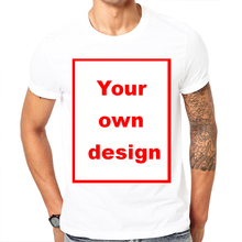 2017 Picture processing High Quality Customized Men T shirt Print Your Own Design / LOGO / QR code /photo casual tshirt(China)