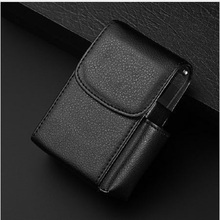Creative Portable Cigarette Case Smoke Holder Storage Box Container PU Leather Wallet Storage Bag Best Gift for Father Friend(China)