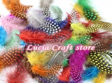 about 5-12cm Random mixed colors Chicken pheasant feathers beautiful gull feather plume decoration accessories 48pcs 077007