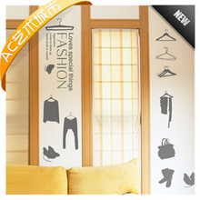 New Clothes Man Shop Vinyl Decal Casaul Clothing Store Wall Sticker Window Glass Sticker Wall WALL STICKER FOR ROOM