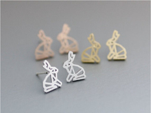 Fashion couture origami bani rabbit earrings jewelry wholesale gift for women(China)