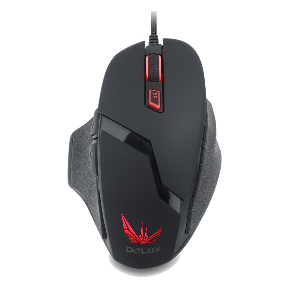 Delux M612 wired USB Gaming Mouse Gamer Laptop PC Mice LED Backlight Optical USB Wired Ergonomics Design for Desktop Computer