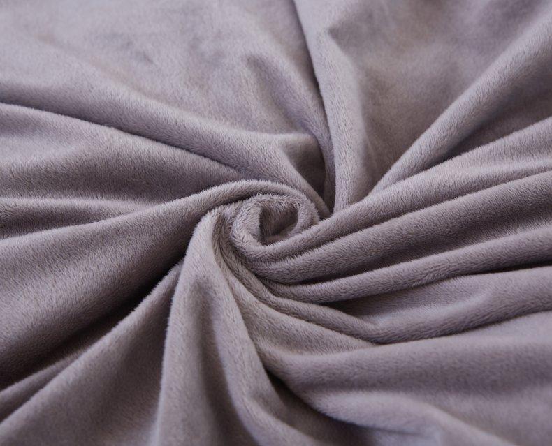 3Pcs Fleece Bed Skirt Set W/ Pillowcases, Mattress Protective Cover 30