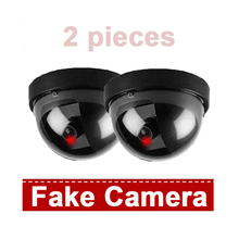 Emulational Fake Camera Security CCTV Dome Dummy Camera Outdoor Waterproof Wireless Indoor Dome kamepa Blinking IR LED