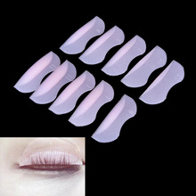 10PCS 5pairs Pro Silicone Eyelash Perming Curler Curling False Fake Eye Lashes Extension Shield Pad