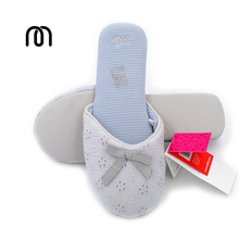 Millffy woman shoes summer cotton slippers women sailing beach trailer clip flip flops Lace jelly slippers(China)