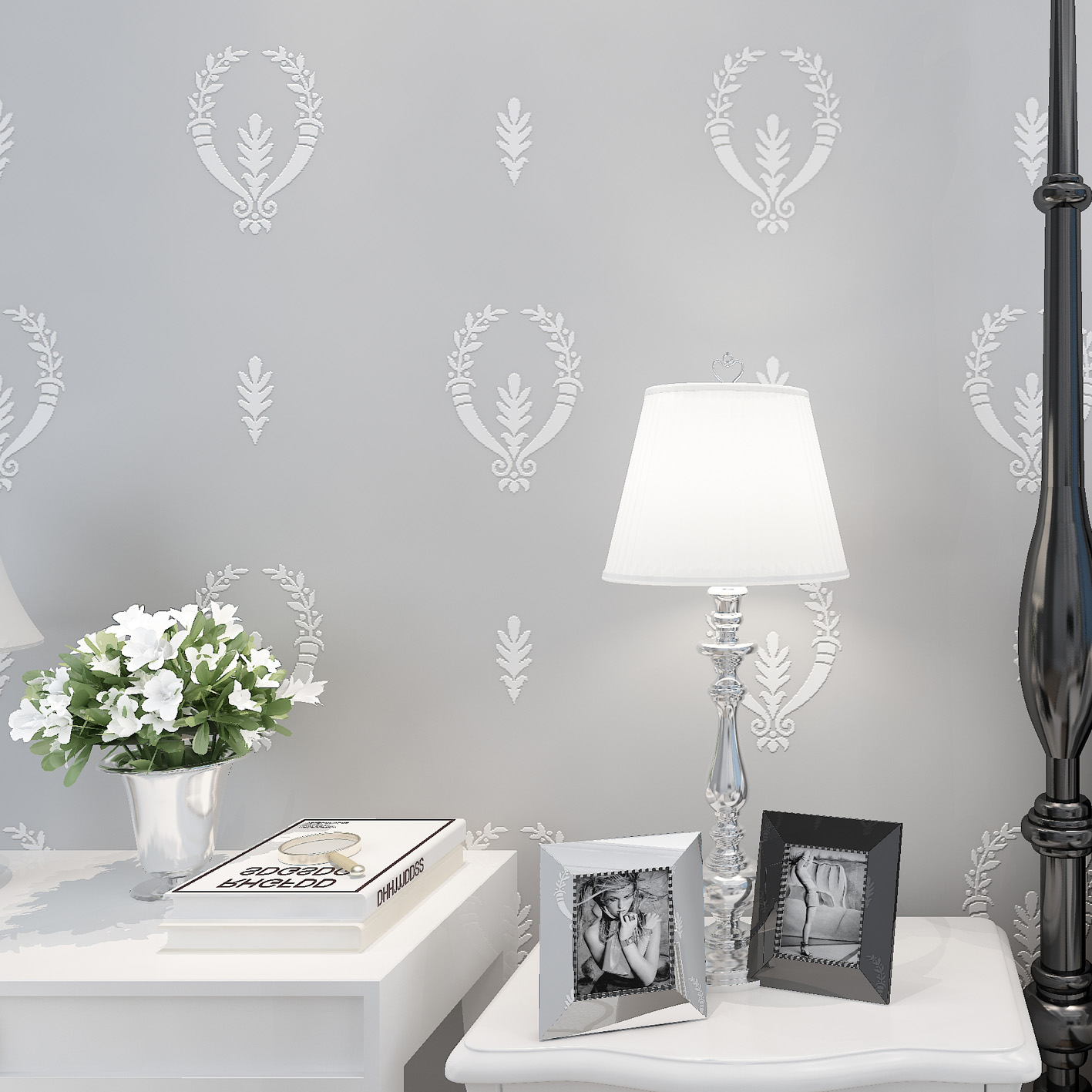 Fashion 3D Wallpaper for Walls Non Woven Wallpapers Floral for Bedroom Living Room Wall Paper Roll Modern 3D paper Contact<br>