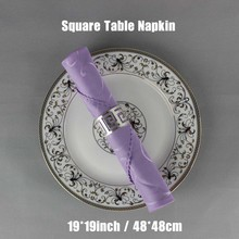 100pcs Dobby Polyester 48cm Square Light Purple Table Napkin For Restaurant Decoration Hotel Serviette de table Folding Cloth