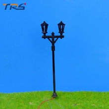 2017 new architectual scale model ABS plastic courtyard lampost light for model train layout street lamp.model light with bulb