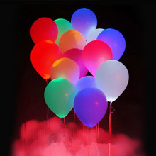 5pcs/lot LED Flash Balloon Illuminated LED Balloon Glow In The Dark Sky Lanterns Happy Birthday Decoration Globos Party Balloons