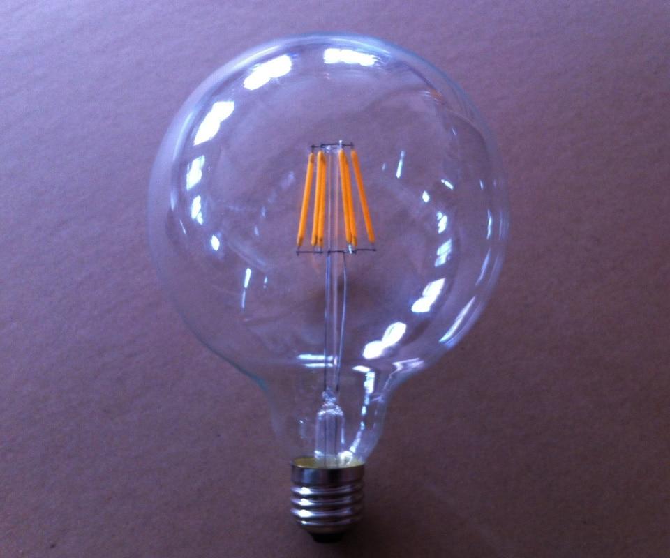 HOT lampada led e27 110v 220v edison bulb G95 4W 6...
