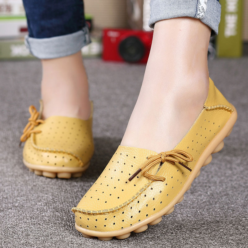 MWY Handmade Shoes Loafers Slips Women Flats Round-Toe Female Big-Size Soft 44 Casual title=