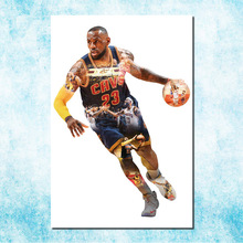 NBA Lebron james LBJ Cleveland Cavaliers 3 Art Silk Canvas Poster 13x20 24x36 inch Basketball Picture For Room Decor (more)-4(China)
