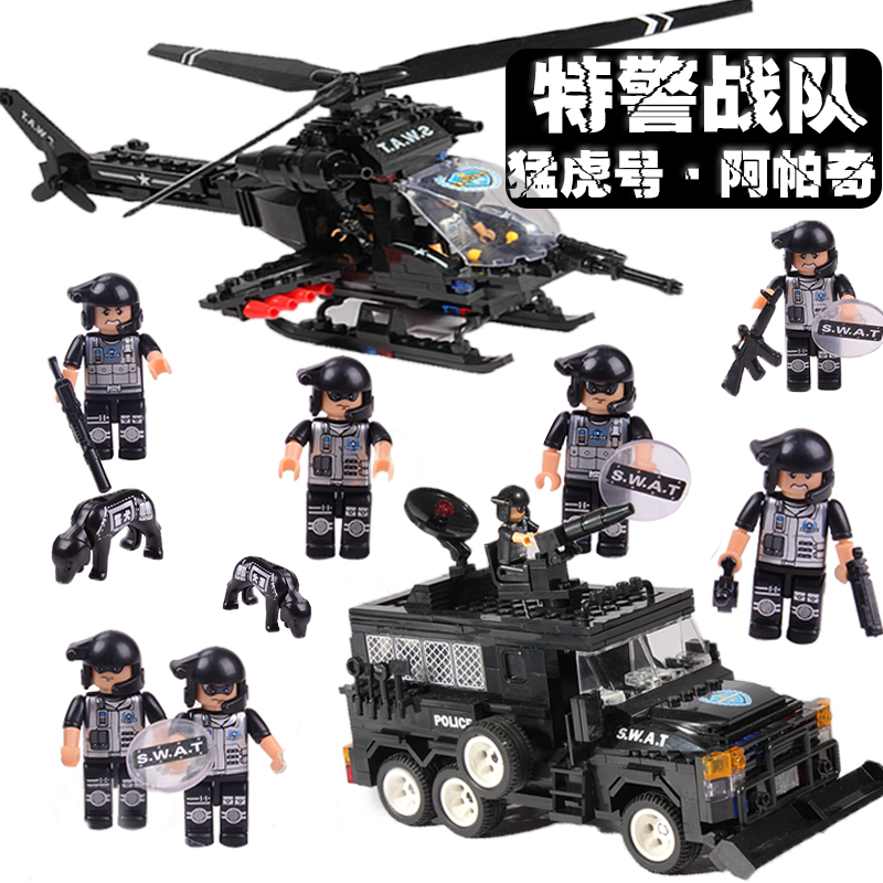 2017 building blocks WOMA C0534 children toy military swat armoured helicopter car 594 pieces<br><br>Aliexpress