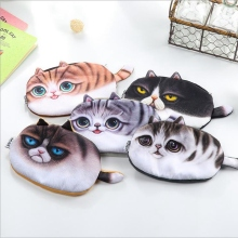 Kawaii Cats Zipper Pencils Bags Cute 3D Plush Pencils Case 2017 New Case Large Capacity School Supplies Stationery Hot Pen Box