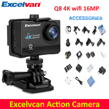 Excelvan Q8  Action Camera 2.0 inch WiFi 4K 30FPS 16MP H.264 30m Waterproof 170 Wide Lens Action DV Sports Camera