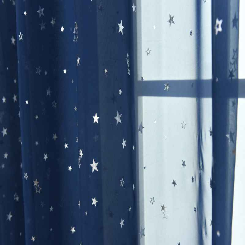 2019 Star Tulle Curtains Modern Curtains For Living Room Transparent Tulle Curtains Window Drapes Sheer For The Bedroom Home