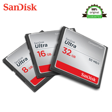 Original Sandisk Ultra Compactflash Memory CF Card SD Up to 50MB/s Read Speed for rich 4K and Full HD video Carte 8GB 16GB 32 GB