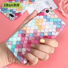 JiBan Fashion Colorful Hard Plastic Phone Cases For iPhone 7Plus 7 6plus 6S Plus Korean Girls Cover For iPhone 6 Case(China)