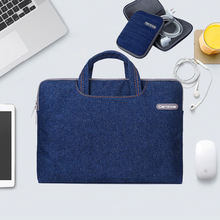 Laptop sleeve with free power pack for ASUS Lenovo xiaomi air 12.5 fashion Denim Laptop bag sleeve bag 11 12 13 14 15 inch