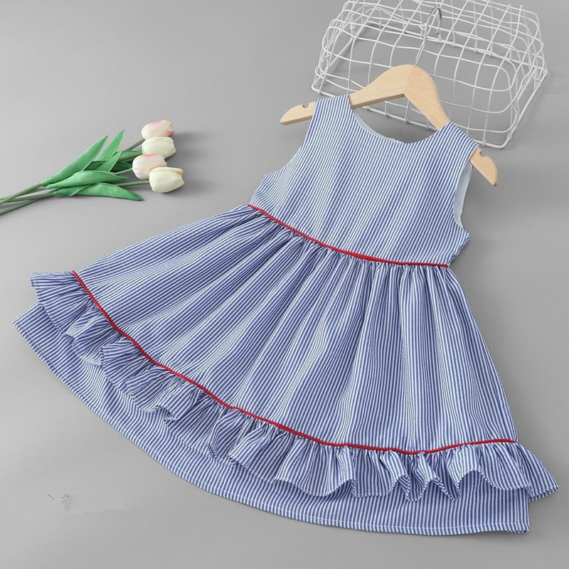 Baby Summer Dress 2019 New Girl Striped Dress Sweet Kids Sleeveless Dresses Sweet Fashion Princess Dresses Girls Clothing