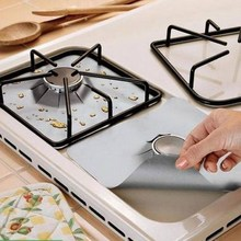 4Pcs Reusable Foil Gas Hob Range Stovetop Burner Protector Liner Cover For Cleaning Kitchen Tools P20(China)