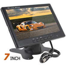 HD 800 x 480 Super Thin 7 Inch Car Monitor TFT Car LCD Monitor Color LCD 2 Channels Video Input Car Rear View Monitor(China)