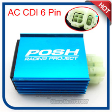 Racing AC CDI Posh Ignition Box 6 Pin For GY6 50cc 125cc 150cc Moped Scooter ATV Go kart Motorcycle Motocross