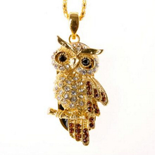 USB Flash Drive Diamond Metal Material Owl Cartoon USB 2.0 Flash Drive U Disk to 8 GB 16 GB 32 GB flash drive(China)