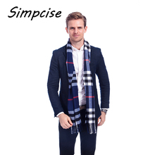 [Simpcise] 2017 most popular scarf plaid men scarf winter unisex soft warm scarves imitation cashmere winter scarves A3A17526(China)