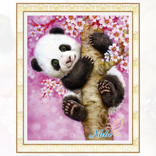 2017 New Arrival New Basket The Panda Diy Diamond Painting Craft Accessories Cross Stitch Thorn To Draw Needlework Embroidery(China)