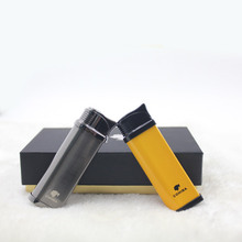 Metal Yellow&Black Pocket Single Fire Windproof Jet Flame Cigar Lighter W/ Original box CL-78