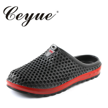 Ceyue Beach Slippers Men 2018 Summer New EVA Massage Mens Hot Sale Rubber Unisex Sandals Fashion Hollow Outdoor Walking Slippers(China)