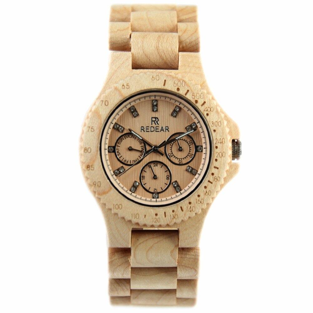 2017 Fashion Mens Watch Maple Wood Watch Exquisite Handmade Quartz Wristwatches <br>