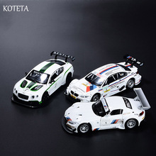Koteta 1:32 Scale Diecast Alloy Metal Luxury Racing Car Model with Sound & Light for the Z4 GT3 Pull Back Boys Toys Kids Gift(China)