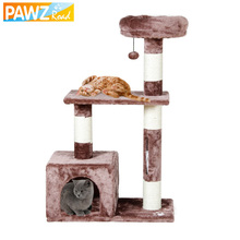 PAWZ Road Cat Toy Scratching Domestic Delivery H96CM Wood Climbing Tree Cat Jumping Standing Frame Cat Furniture Pet Supplies