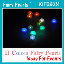 Fairy LED Pearls!!!(180pcs/Lot) Wedding Decoration 2CM Mini Colorful Small Battery Led Berries Waterproof Floating LED Lights
