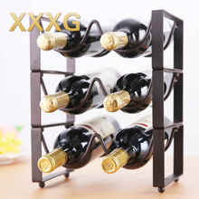 XXXG / / fashion creative superposition of European wine rack furnishing articles bottle tray display shelves, wrought iron