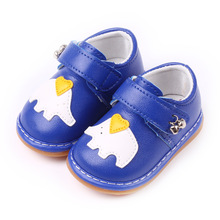 Insole 10.5-12.5cm Cute Baby PU Shoes with Bell Elephant Baby Shoes Toddler Shoes