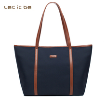 Let it be women casual tote for teenagers waterproof oxford canvas nylon shoulder bags spacious bag office OL bolsa feminina