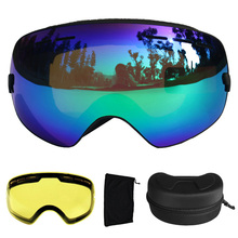 Ski Goggles UV400 Ski Glasses Double Lens Anti-fog Skiing Snowboard Goggles Ski Eyewear With a Box and a Extra Lens(China)