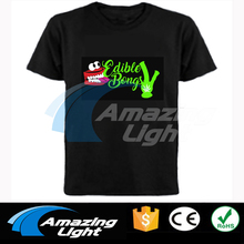 Amazing light customized sound active flashing led t-shirt panel t shirt light up and down led tshirt(China)