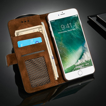 LOVECOM Luxury mesh Mobile Phone Cases Flip Genuine Leather Case Cover For iPhone 7 7 Plus With Wallet Stand(China)