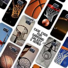 Hot Sale Basketball dark Clear Case Cover Coque Shell for Samsung Galaxy S3 S4 S5 Mini S6 S7 Edge Plus(China)