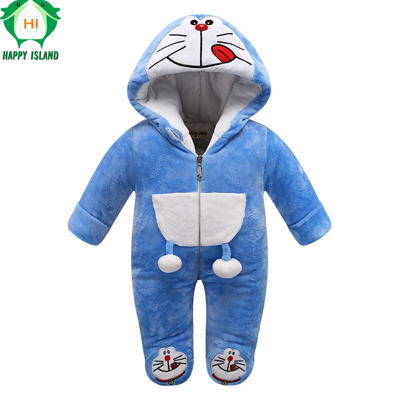 Brand Baby Clothing Autumn Winter Baby Jumpsuit Romper Warm Soft Jumpsuit Set For Newborn Boy Girl Romper Long Sleeve For Babies<br>