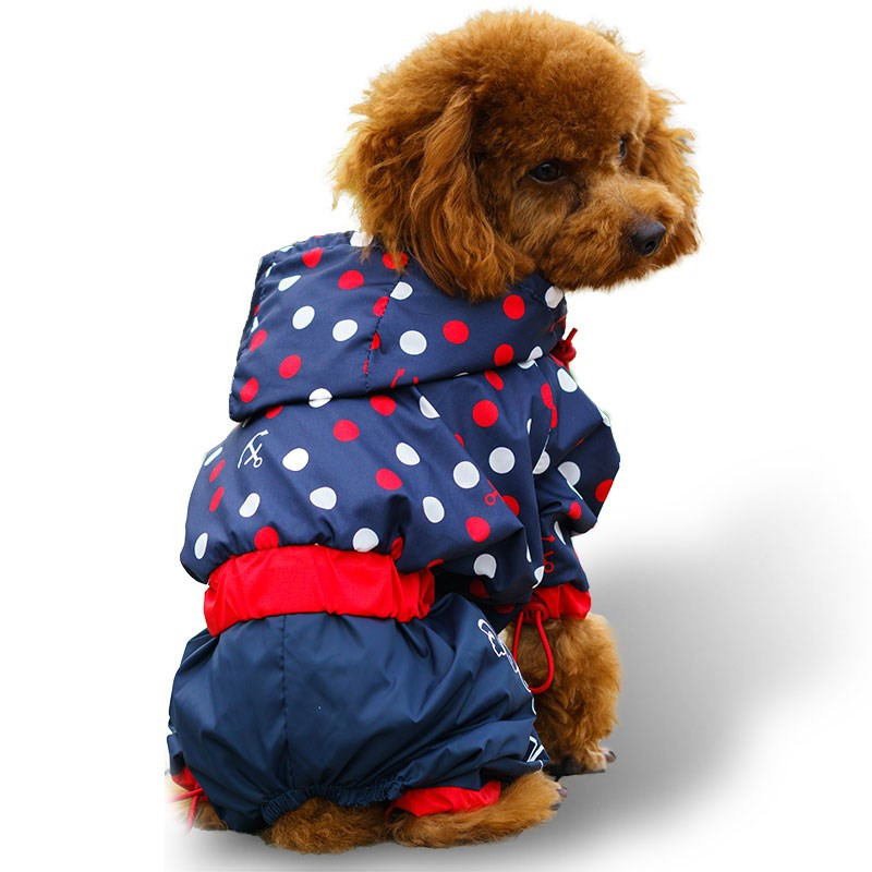 Pet Dog Raincoat for Small Medium Dogs Waterproof Rain Coat Outdoor Clothes Dog Jacket Puppy Teddy Outfits Dog Clothes 4