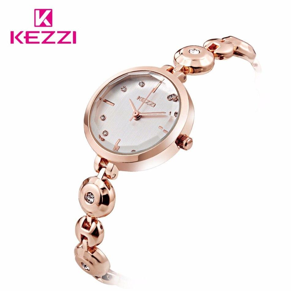 KEZZI Brand Fashion Watch Women Luxury Stainless Steel Bracelet Elegant Dial Dress Watch Ladies Popular Relogio Feminino <br><br>Aliexpress