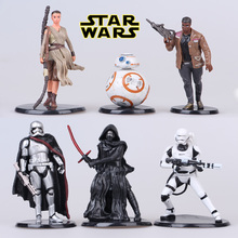 Disney Star The Force Awakens Wars Anakin Skywalker/Darth Vader Master Yoda BB-8 R2-D2 First Order Stormtrooper doll toy Kids