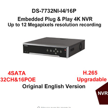 Buy Hikvision DS-7732NI-I4/16P 32CH NVR Alarm 4 SATA H.265 16 POE HDMI 12 MP CCTV Network Video Recorder Surveillance System for $617.70 in AliExpress store