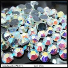 5mm DMC crystal ab rhinestone,ss20,500pcs/lot,with glue on the back,can be hot fix,very shinning glass clear ab rhinesotne(China)